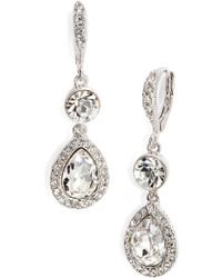 Givenchy - Pave Crystal Drop Earrings - Lyst
