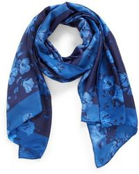 Kate Spade - Hibiscus Silk Scarf - Lyst