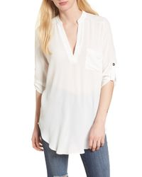 Nordstrom - Perfect Crepe Tunic Top - Lyst