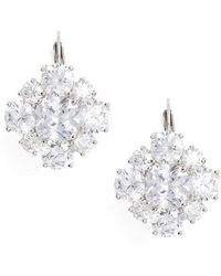 Nina - Crystal Drop Earrings - Lyst