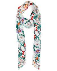 Cara | Floral Print Skinny Scarf | Lyst