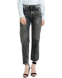 Maje - Paola Distressed Raw Hem Jeans - Lyst