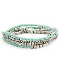 Serefina - Heishi Wrap Bracelet - Lyst