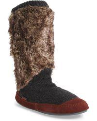 Acorn - Slouch Slipper Boot - Lyst