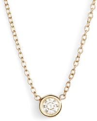 Zoe Chicco - Diamond Bezel Pendant Necklace - Lyst