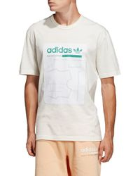 c449ef15 adidas Originals Kaval Short Sleeve T-shirt in Pink for Men - Lyst