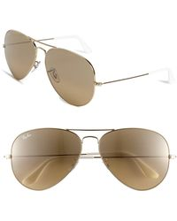 4cc777278 Ray-Ban Aviator Large Pilot-frame Sunglasses in Blue - Lyst
