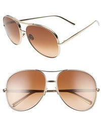 Chloé - 61mm OverGold/ Brown - Lyst