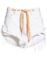 Free People - Cutoff Denim Shorts - Lyst