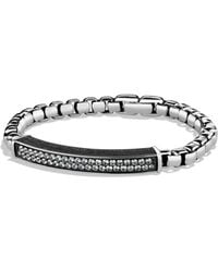 David Yurman - Pave Id Bracelet With Gray Sapphires - Lyst