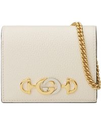 Gucci - Zumi 655 Leather Wallet On A Chain - Lyst