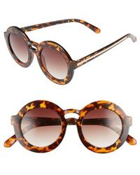 BP. - 47mm Double Brow Round Sunglasses - - Lyst