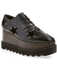 Stella McCartney Elyse Stars Faux-leather Platform Oxford