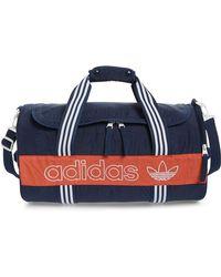 d677ac7ae9 Lyst - adidas Originals Canvas Duffle Bag in Blue for Men