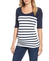 Tees by Tina - 'st. Barts' Ballet Sleeve Maternity Top - Lyst