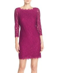 Adrianna Papell | Lace Overlay Sheath Dress | Lyst