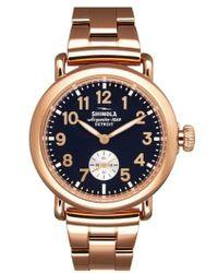 Shinola - 'the Runwell' Bracelet Watch - Lyst