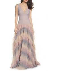 Bronx and Banco - Amelia Tier Ruffle Gown - Lyst