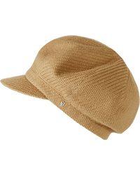 Lyst - Helen Kaminski Texture Wool Baker Boy Cap - in Natural b1ab7b34bde5