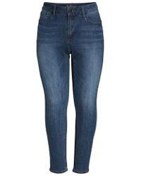 Seven7 - Printed Foil Tuxedo Stripe Skinny Jeans - Lyst