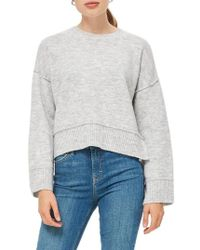 TOPSHOP - Mo Seam Detail Popper Sweater - Lyst