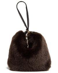 Victoria Beckham - Victoria Beckham Tissue Pouch Faux Fur Bag - Lyst c8ba1a4710485