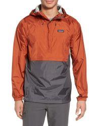 Patagonia | Torrentshell Packable Regular Fit Rain Jacket, Brown | Lyst