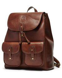 Ghurka - 'blazer' Leather Backpack - Metallic - Lyst