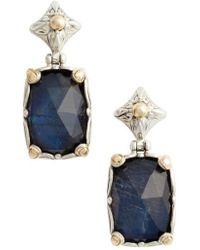 Konstantino - Cassiopeia Cushion Drop Earrings - Lyst