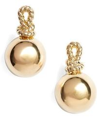 Kate Spade - Sailors Knot Drop Stud Earrings - Lyst