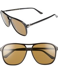 29c0b534cbefa Gucci Retro Web 61mm Aviator Sunglasses - Ruthenium W.mirror Gun ...