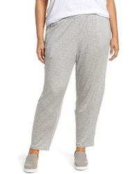 Eileen Fisher - Slouchy Stretch Pants - Lyst