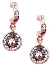 Givenchy - Crystal Hoop Drop Earrings - Lyst