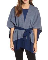Eileen Fisher - Merino Wool Sweater Poncho - Lyst