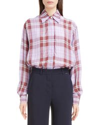Victoria Beckham - Plaid Shirt - Lyst