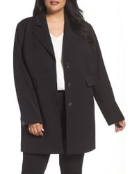 Kenneth Cole - Single Breasted Ponte Coat - Lyst