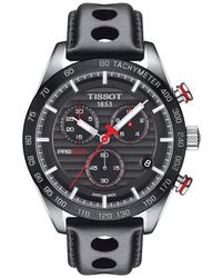 Tissot - Prs 516 Chronograph Leather Strap Watch - Lyst