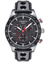Tissot | Prs 516 Chronograph Leather Strap Watch | Lyst