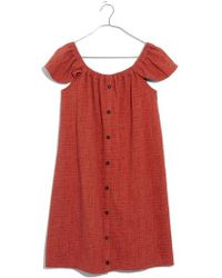 Madewell - Texture & Thread Off The Shoulder Knit Dress - Lyst