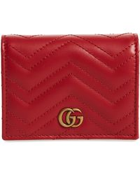 Gucci - Gg Marmont 2.0 Matelasse Leather Card Case - Lyst