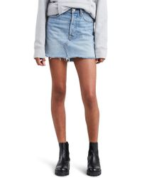 Levi's - Deconstructed Denim Skirt - Lyst