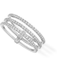 Messika - Gatsby 3 Row Diamond Ring - Lyst