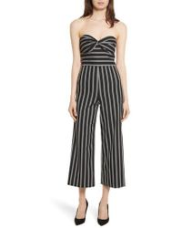 Veronica Beard - Cypress Stripe Strapless Jumpsuit - Lyst
