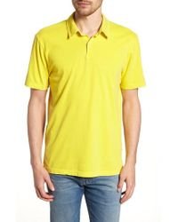 James Perse - Slim Fit Sueded Jersey Polo - Lyst