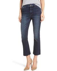 PAIGE - Transcend Vintage - Colette Crop Flare Jeans - Lyst