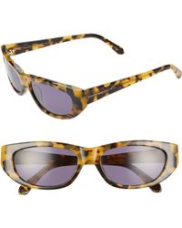04bed3c16b5 Karen Walker - 56mm Oval Cat Eye Sunglasses - Crazy Tortoise  Smoke - Lyst