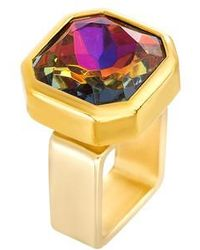 Steve Madden - Square Crystal Ring - Lyst