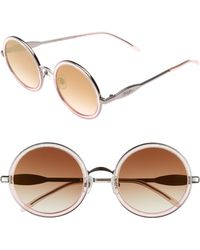 Wildfox - Ryder Zero 49mm Flat Round Sunglasses - - Lyst