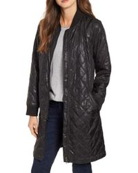 Eileen Fisher - Stand Clear Quilted Jacket - Lyst