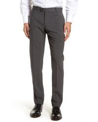 Eleventy   Flat Front Stretch Solid Wool Trousers   Lyst